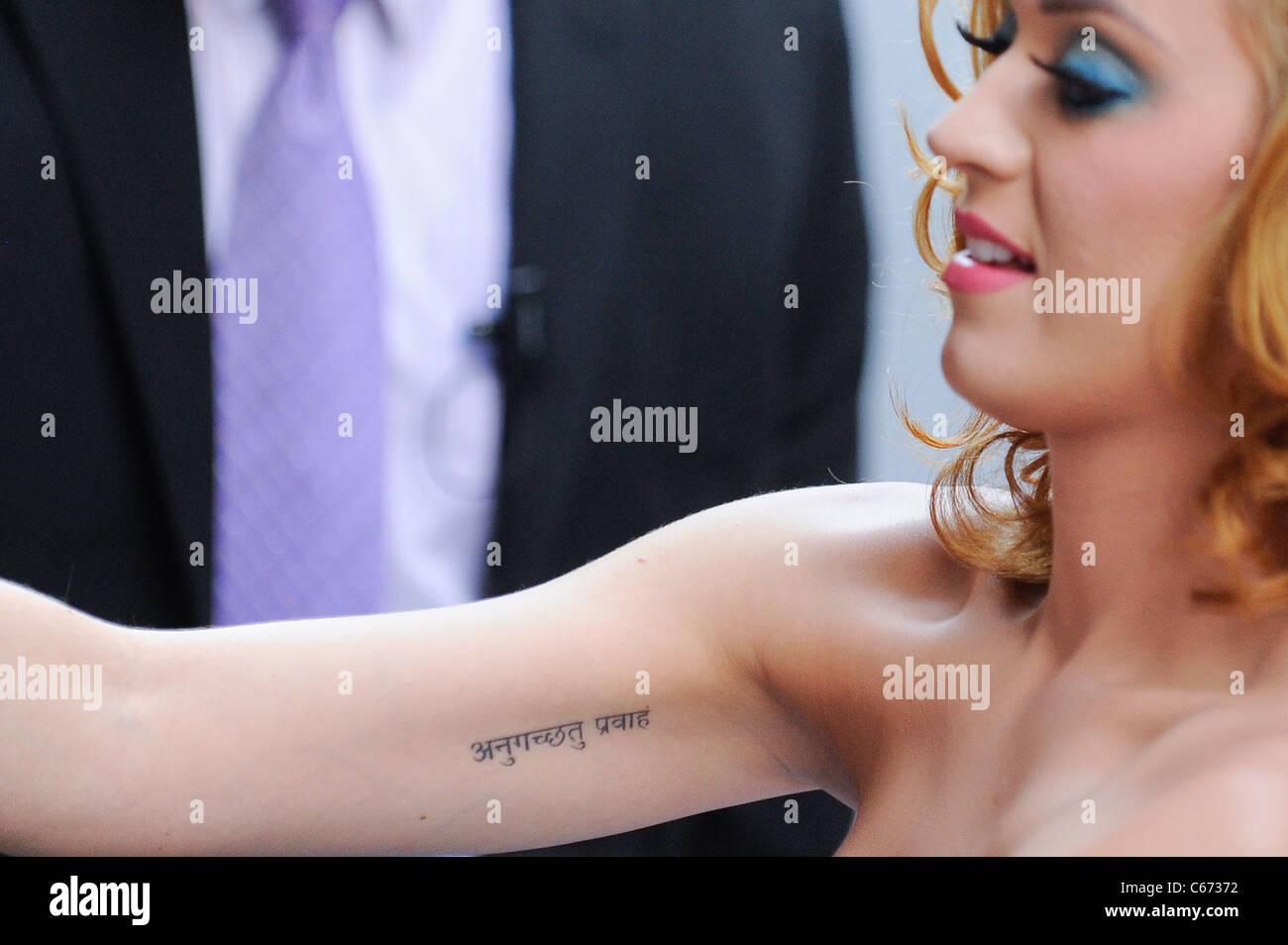 Katy Perry Tattoo Stock Photos Katy Perry Tattoo Stock