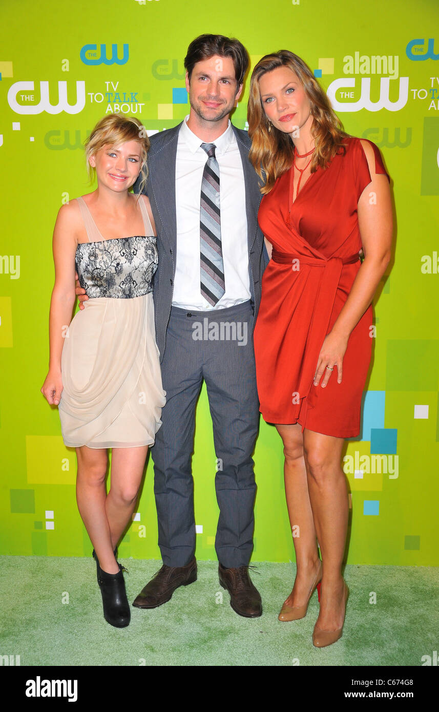 Britt Robertson, Gale Harold, Natasha Henstridge at arrivals for CW Network Upfront Presentation for Fall 2011, - Stock Image