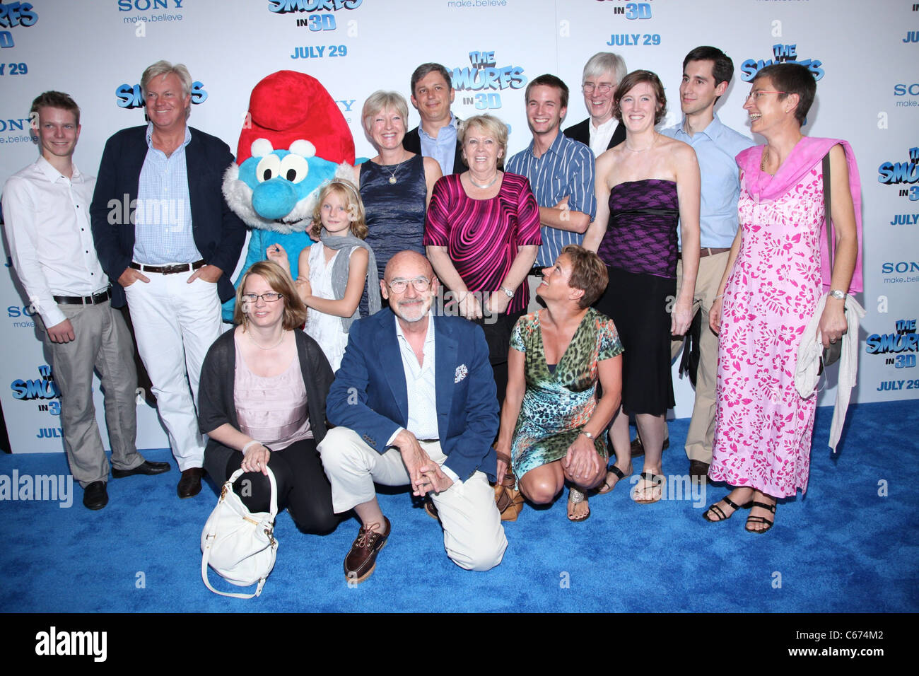 Veronique Culliford and guests at arrivals for THE SMURFS Premiere, The Ziegfeld Theatre, New York, NY July 24, - Stock Image