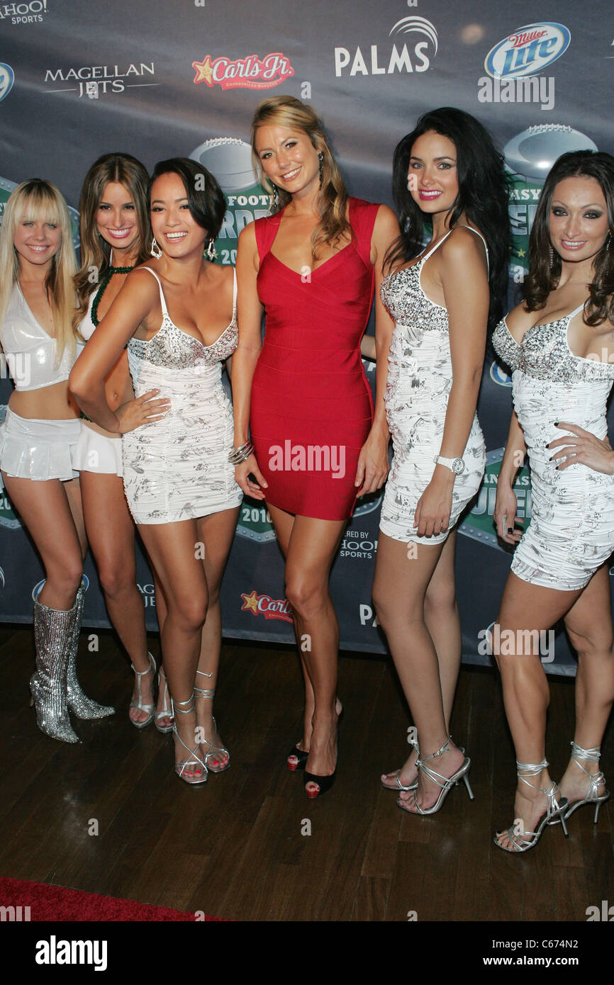 Fantasy Football Draft Models, Stacy Keibler in attendance for 2nd Annual Fantasy Football SUPERDRAFT Tailgate Party, - Stock Image