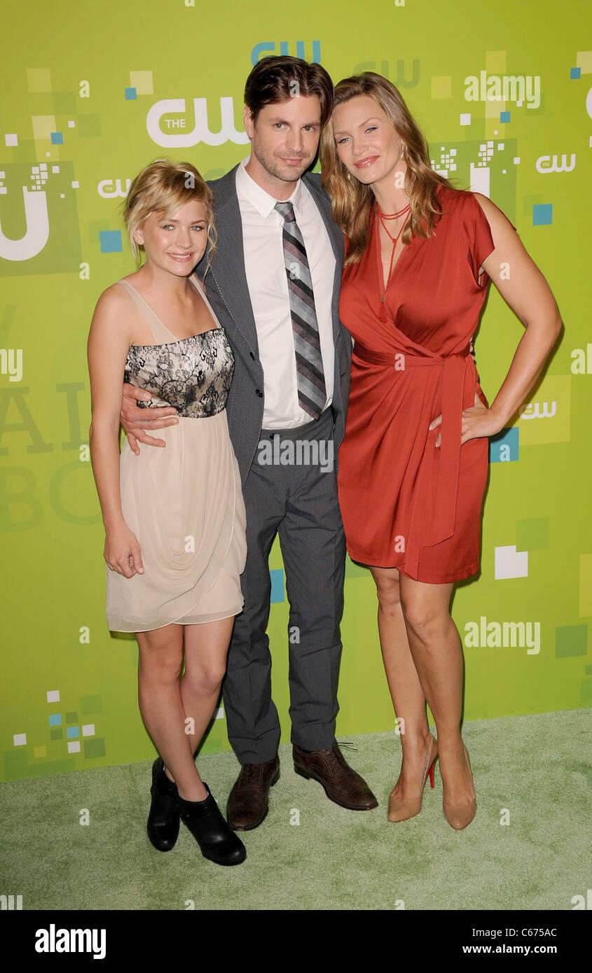 Britt Robertson, Gale Harold, Natasha Henstridge at arrivals for CW Network Upfront Presentation for Fall 2011, - Stock Image