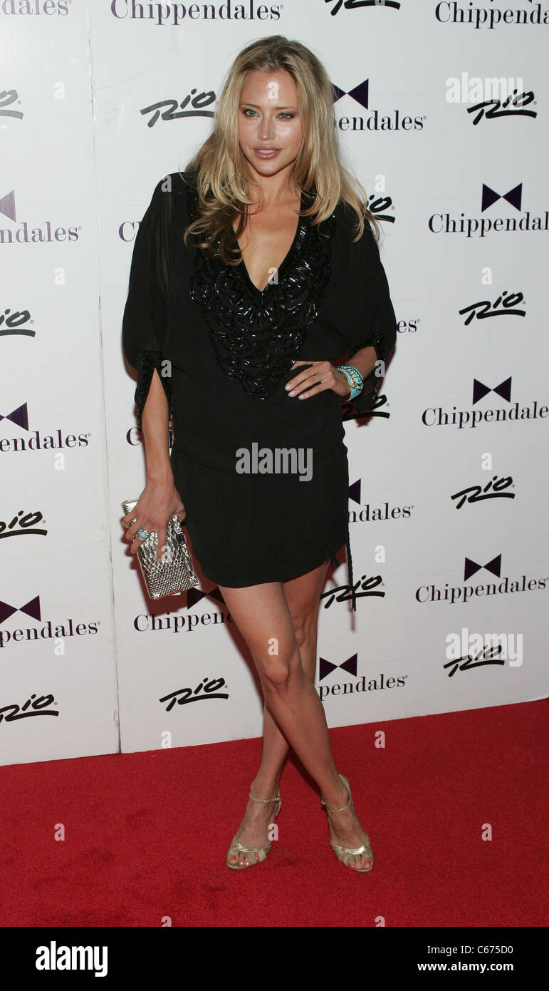 Estella Warren at arrivals for The Ultimate Girls Night Out at Chippendales Theatre, Rio All-Suite Hotel and Casino, - Stock Image