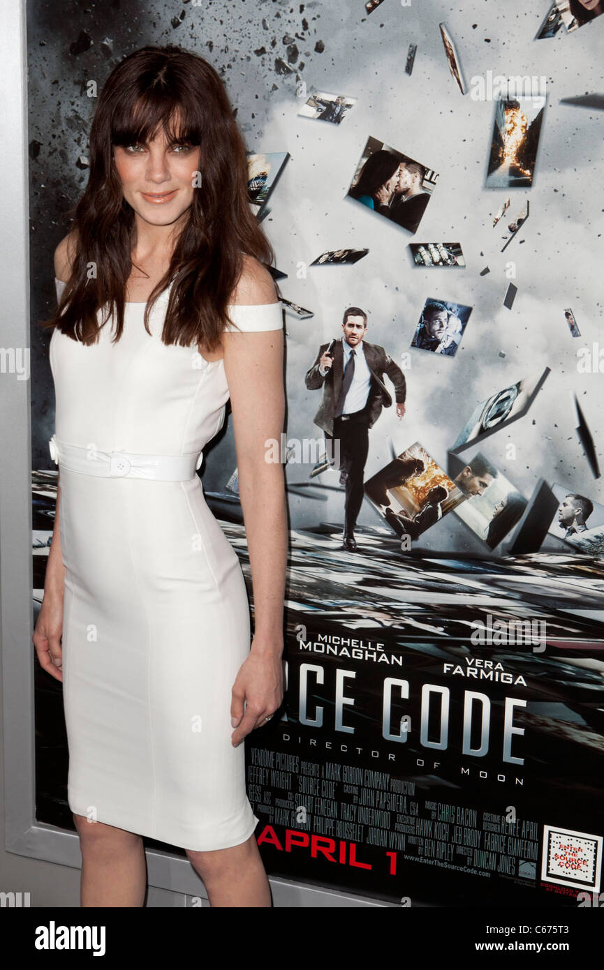 Michelle Monaghan (wearing a Versace dress) at arrivals for SOURCE CODE Premiere, Arclight Cinerama Dome, Los Angeles, - Stock Image
