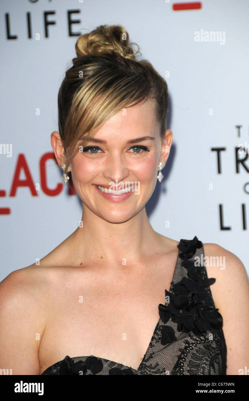 Jess Weixler at arrivals for THE TREE OF LIFE Screening at LACMA, Bing Theatre, Los Angeles, CA May 24, 2011. Photo - Stock Image