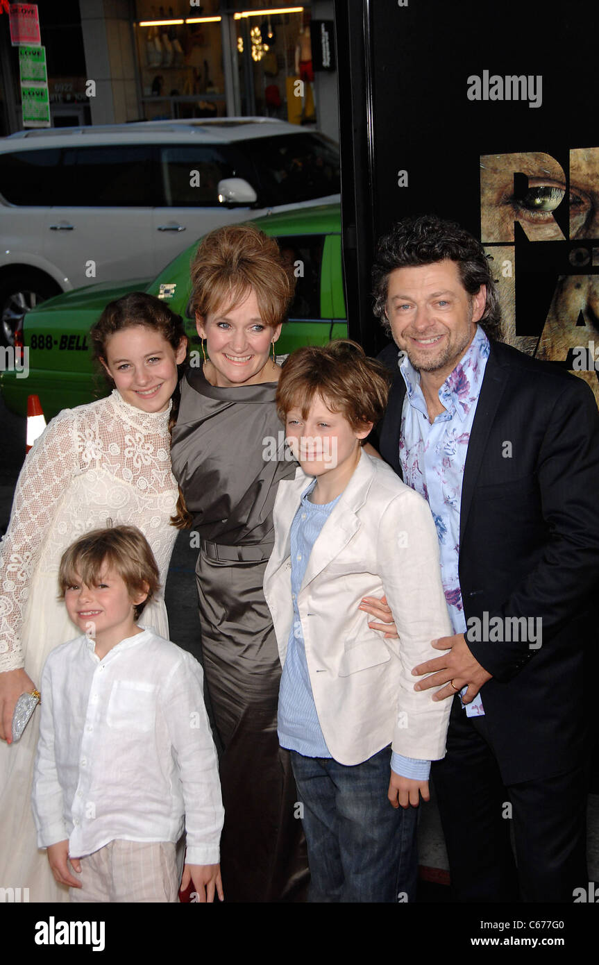 Andy Serkis at arrivals for RISE OF THE PLANET OF THE APES Premiere, Grauman's Chinese Theatre, Los Angeles, - Stock Image