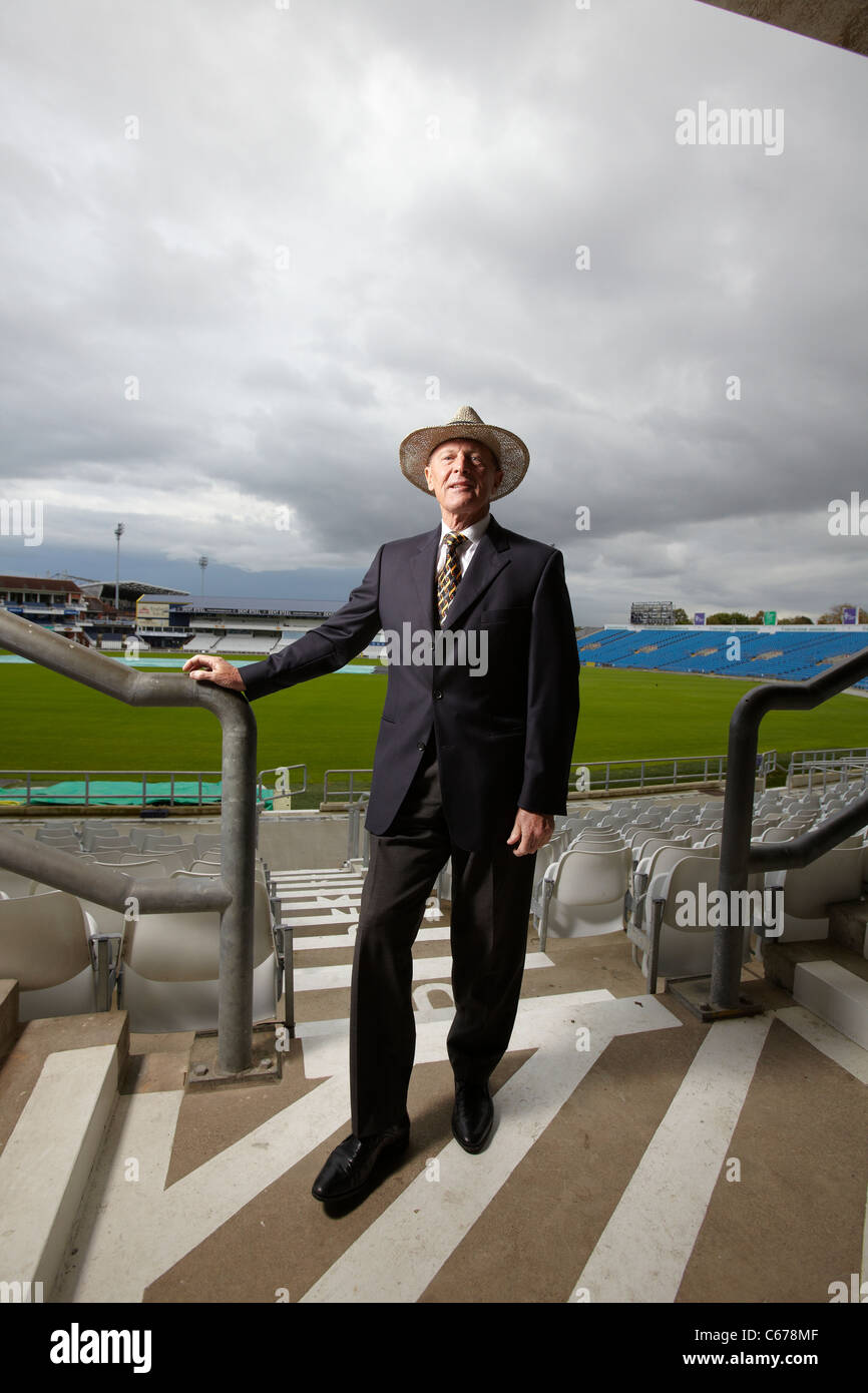 Geoffrey Boycott pictured at Yorkshire County Cricket Club, Leeds, 19th October 2010 - Stock Image