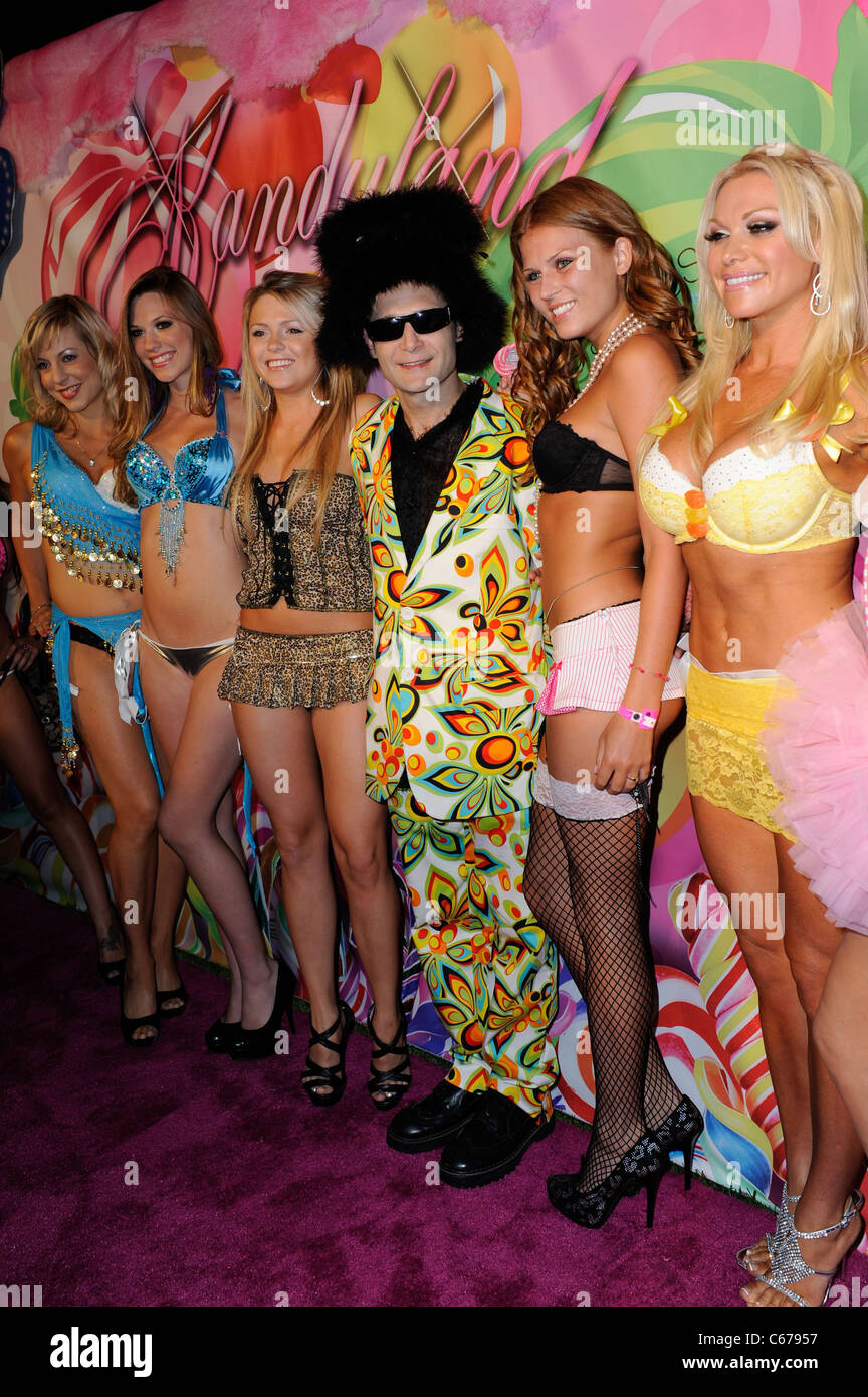 Corey Feldman with guests at arrivals for 6th Annual Kandyland Party, The Playboy Mansion, Los Angeles, CA June - Stock Image