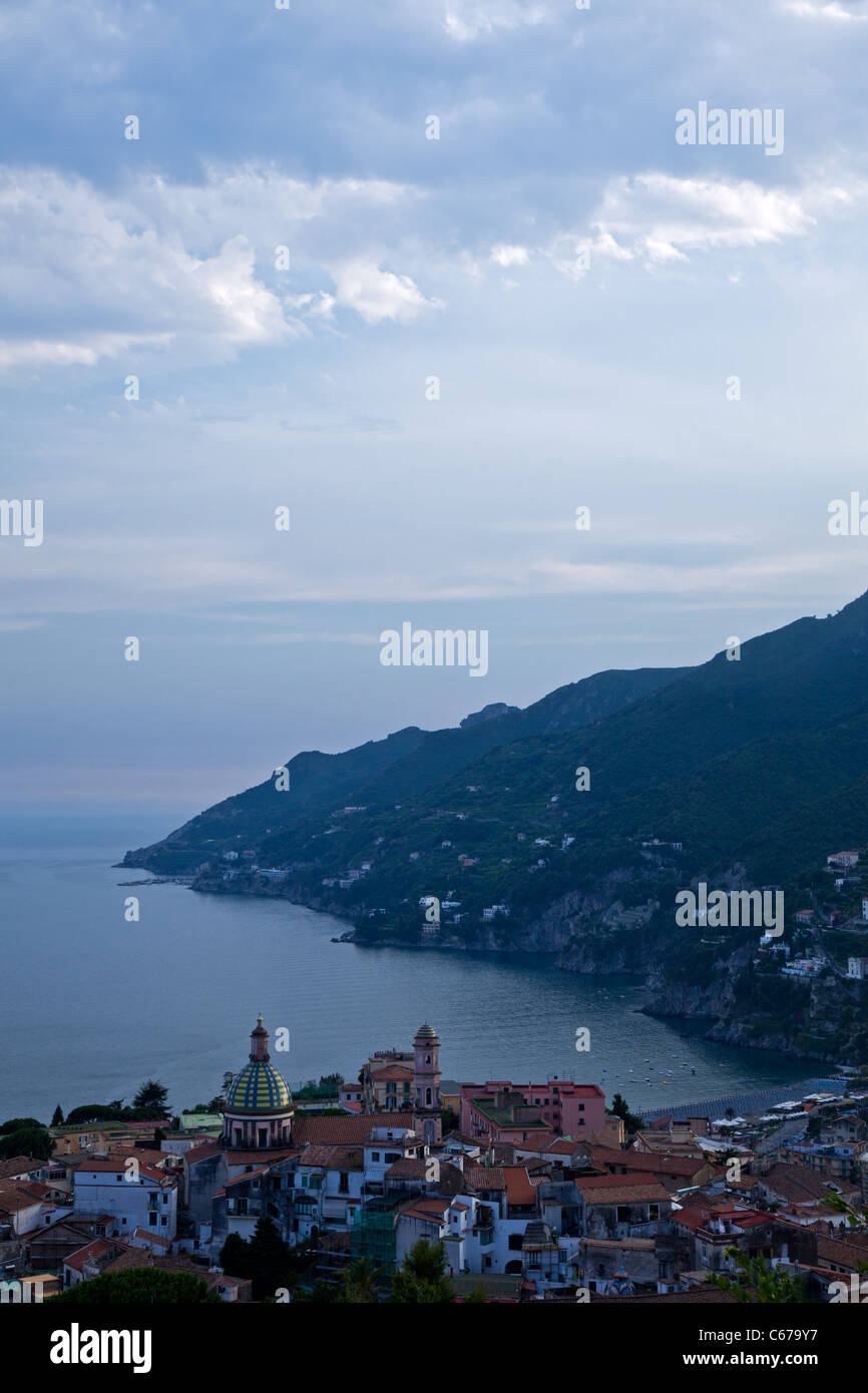 Italy, Amalfitana Coast, sunset on Vietri Sul Mare area Stock Photo