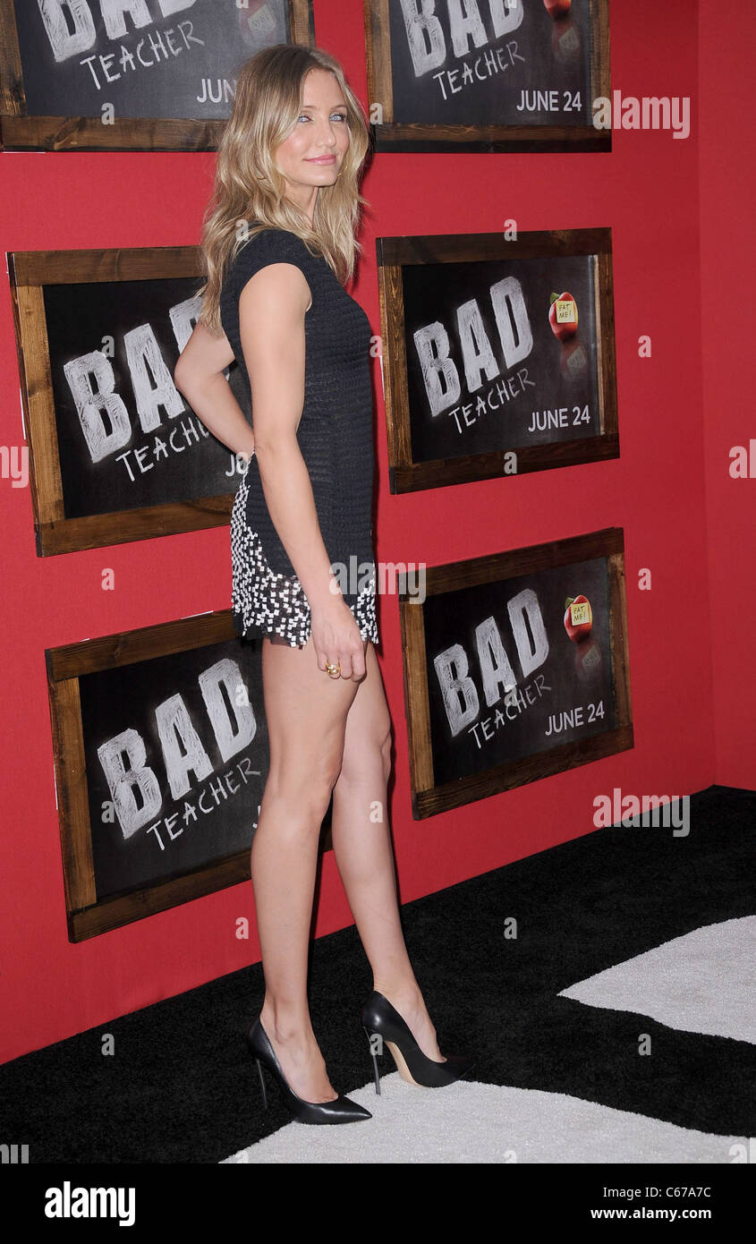 Cameron Diaz (wearing a Chanel dress) at arrivals for BAD ...