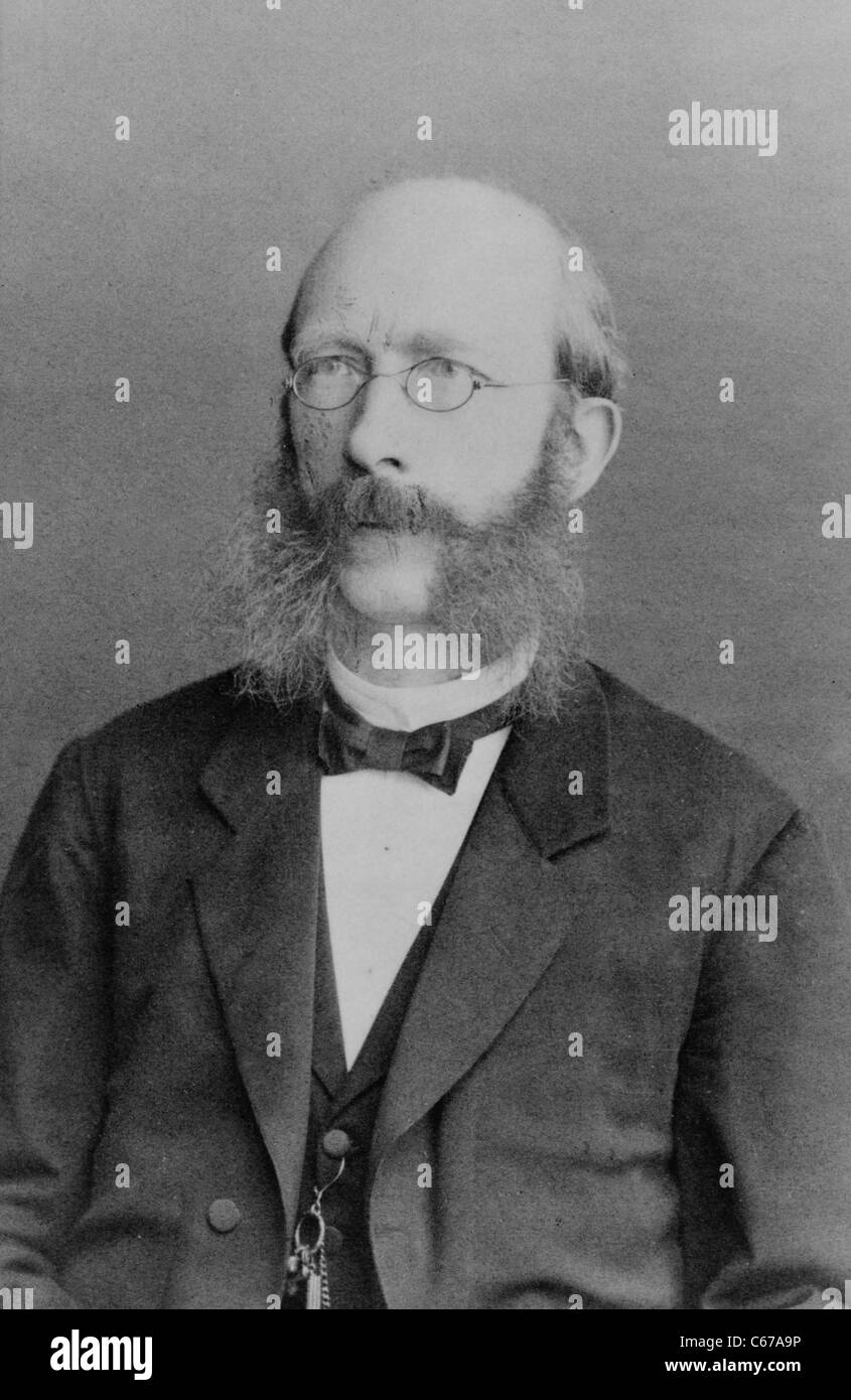 Ludwig Wittmack, German botanist, circa 1870 - 1890 - Stock Image
