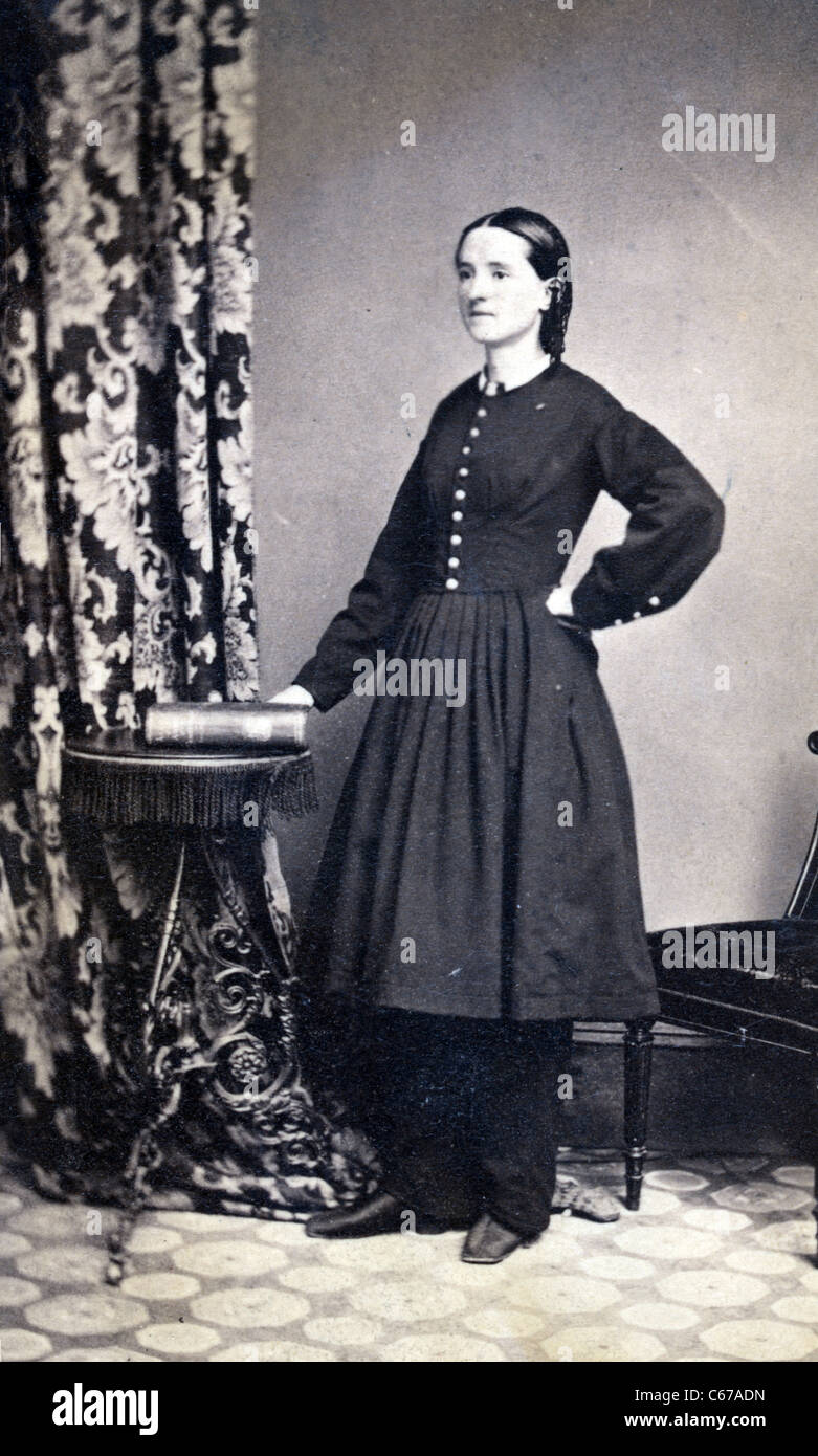 Civil War surgeon Mary E. Walker, circa 1860 and 1870 - Stock Image