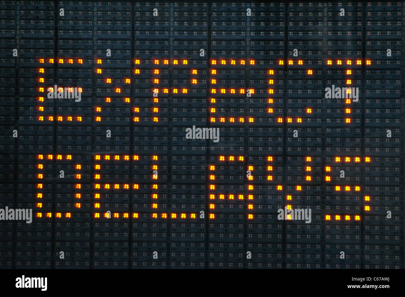 Expect Delays Sign - Stock Image