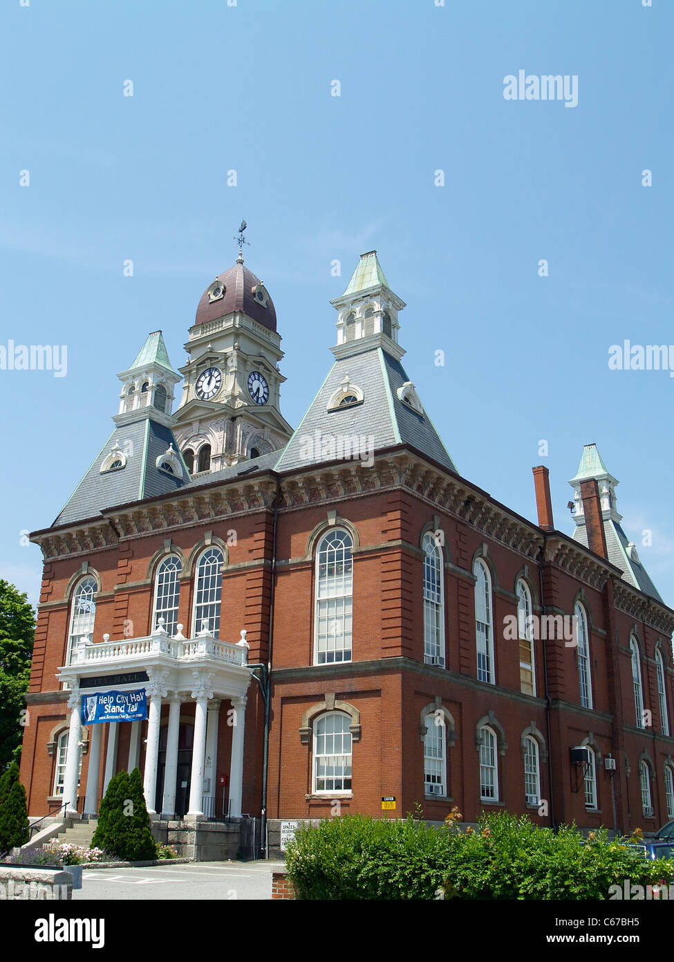 Gloucester City Hall, Massachusetts - Stock Image