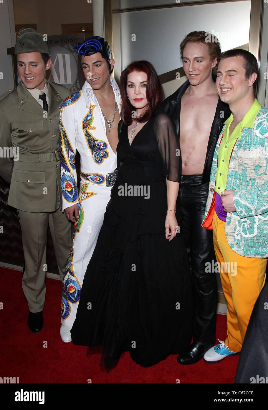 Priscilla Presley, Viva Elvis cast members in attendance for Nevada Ballet Theatre Annual Black and White Ball, - Stock Image