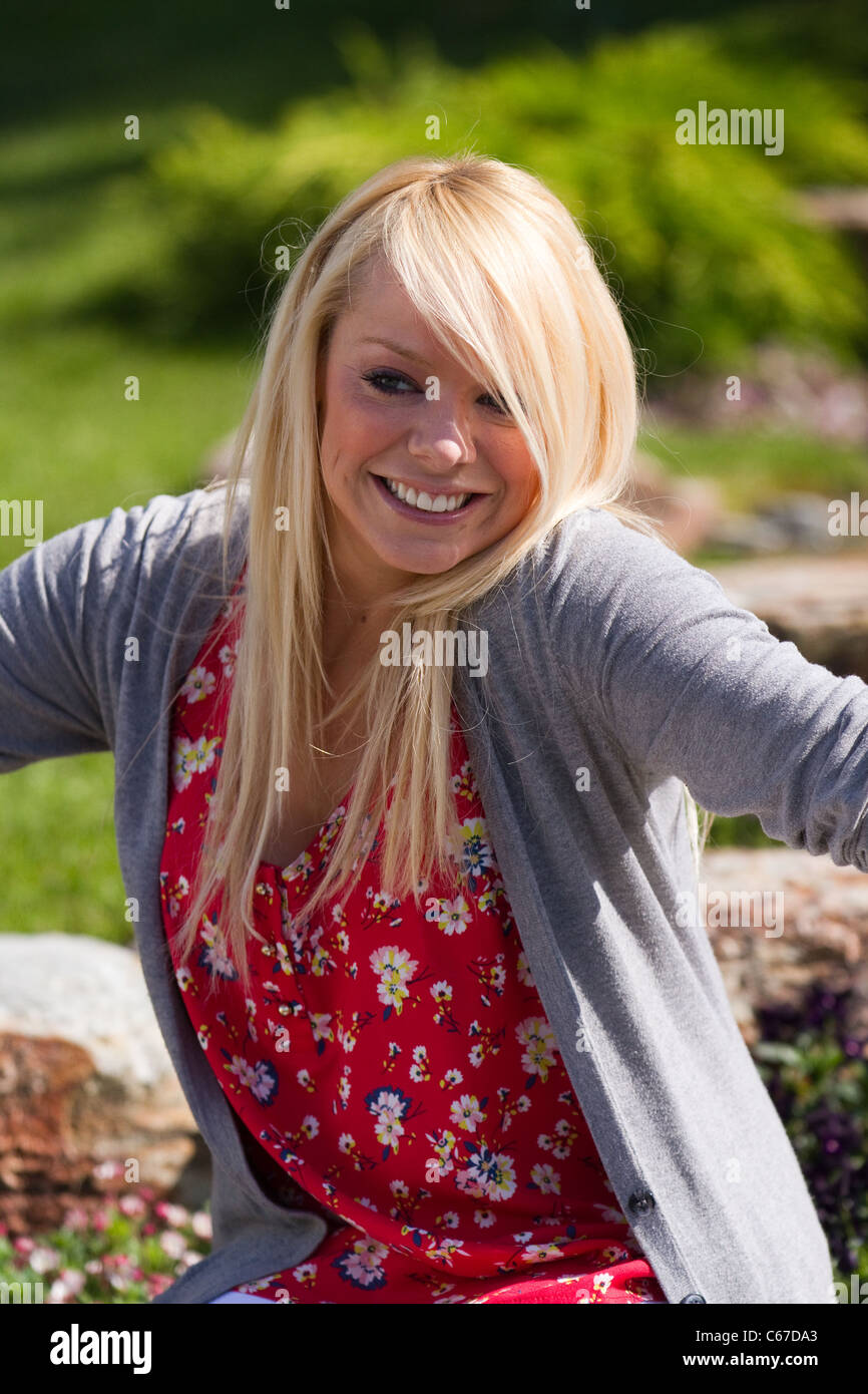Elizabeth Margaret 'Liz' McClarnon dancer and television presenter at the 28th Southport Flower Show Showground - Stock Image