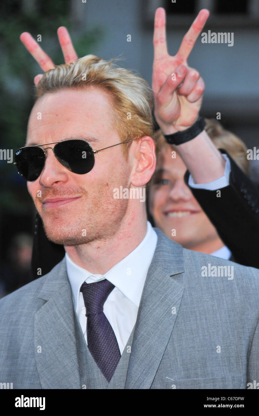 Michael Fassbender, Lucas Till at arrivals for X-MEN: FIRST CLASS