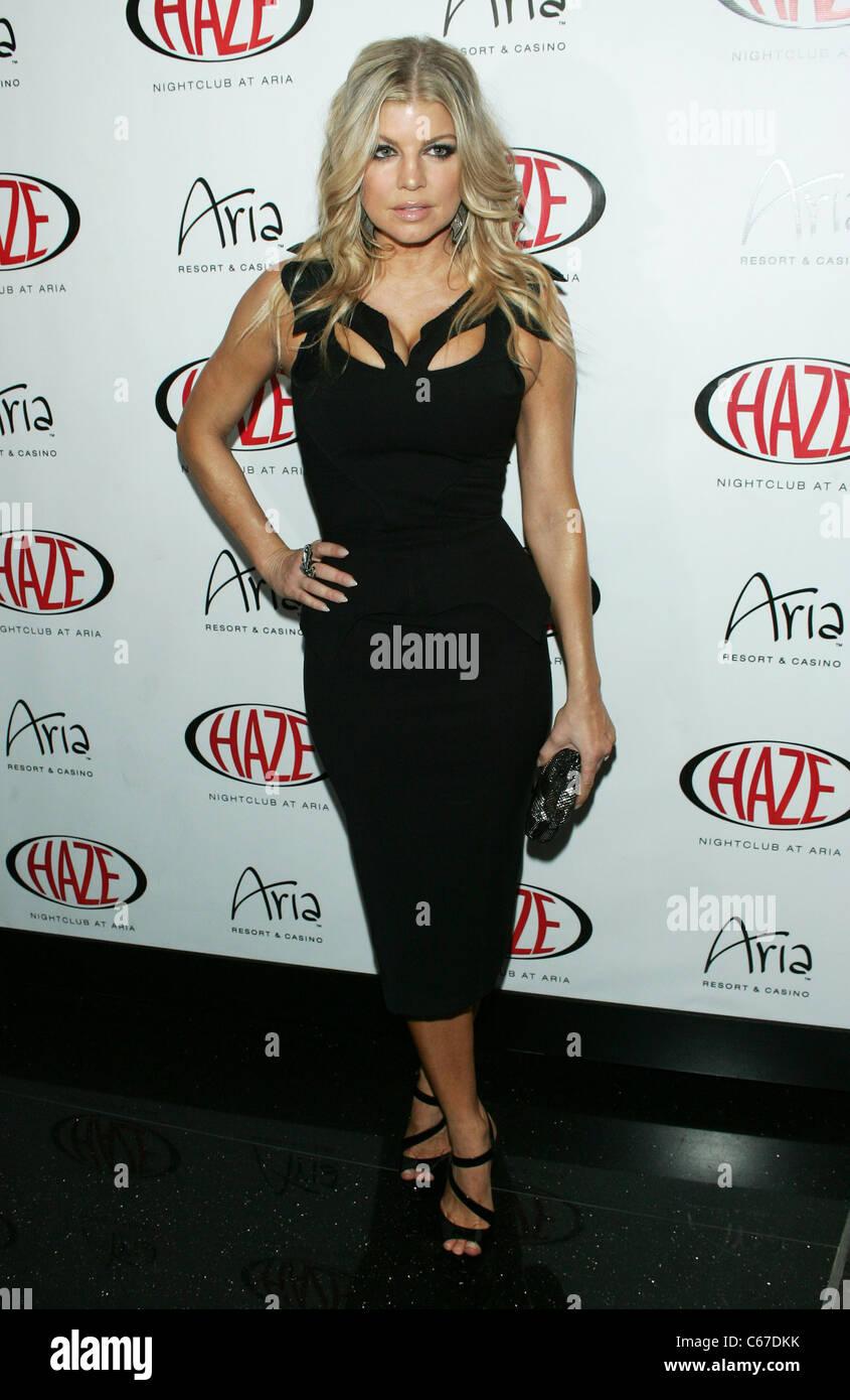 Fergie, wearing a dress by Zac Posen at arrivals for Fergie Hosts at HAZE, Haze Nightclub at ARIA Resort & Casino, Stock Photo