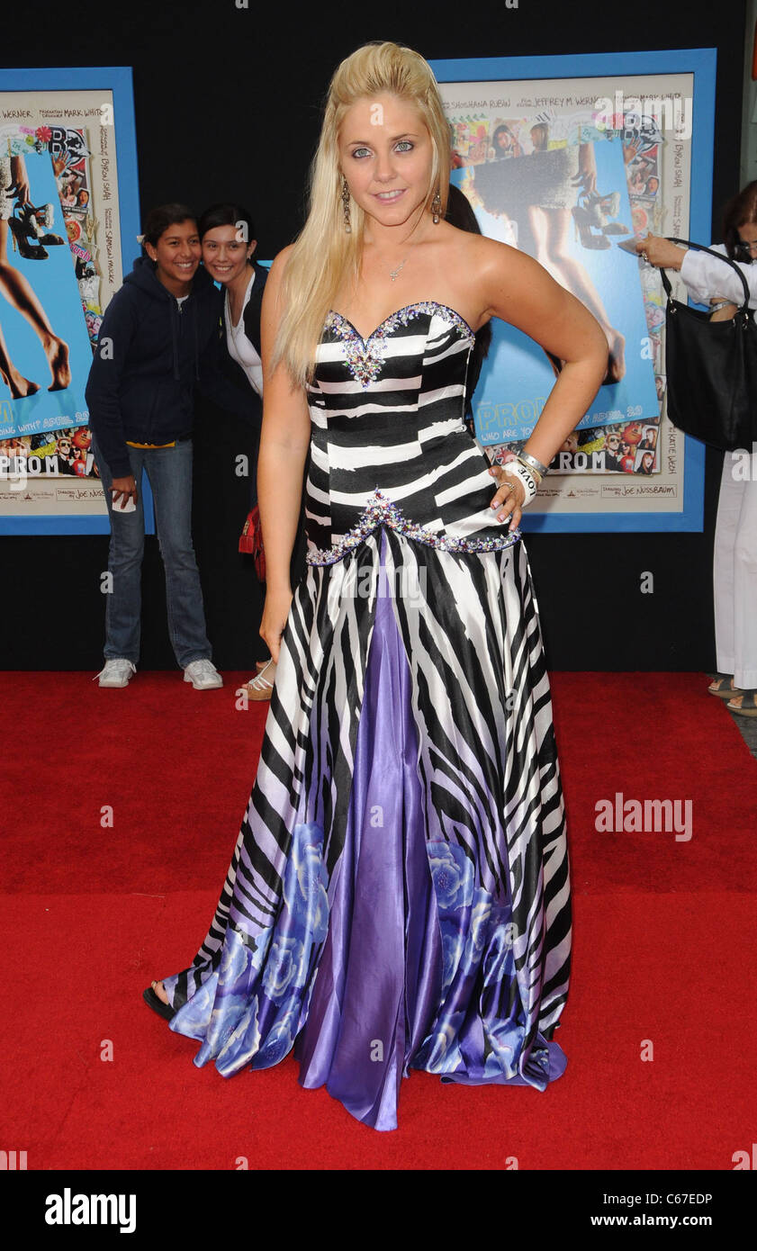 Aimee-Lynn Chadwick at arrivals for PROM Premiere, El Capitan Theatre, Los Angeles, CA April 21, 2011. Photo By: - Stock Image