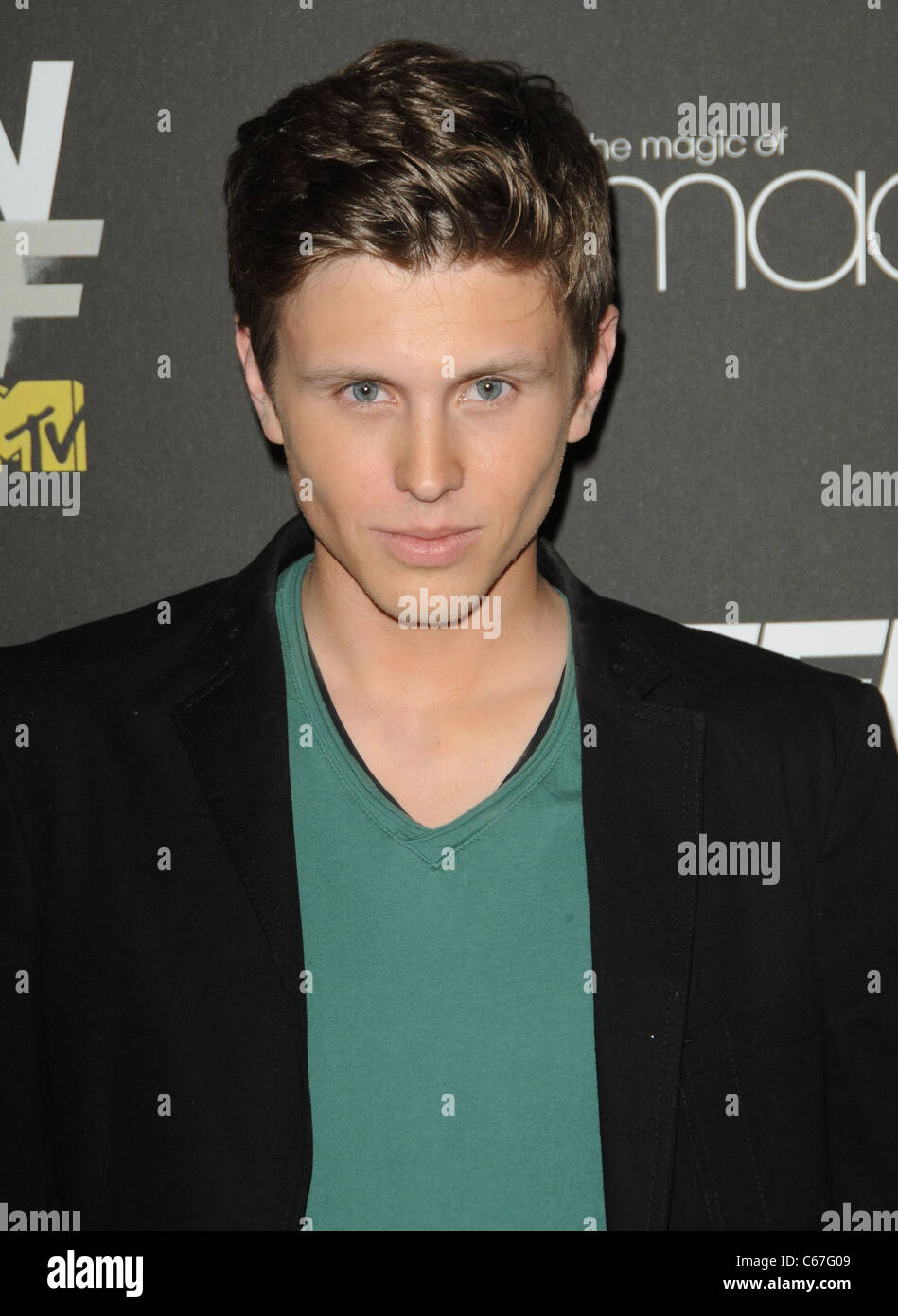 David Lewis at arrivals for TEEN WOLF Premiere Party, Roosevelt Hotel, Los Angeles, CA May 25, 2011. Photo By: Dee - Stock Image
