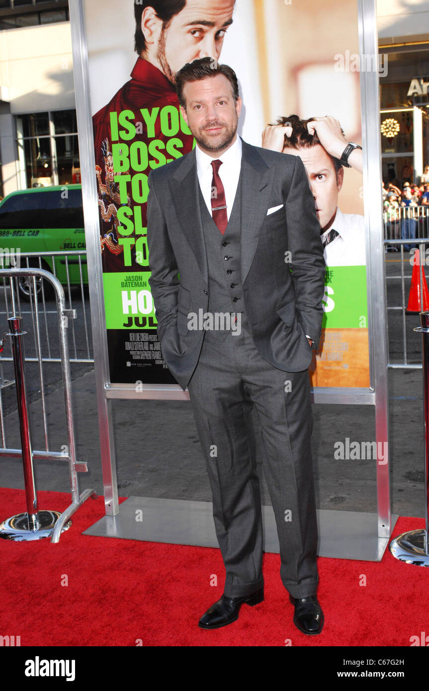 Jason Sudeikis at arrivals for HORRIBLE BOSSES Premiere, Grauman's Chinese Theatre, Los Angeles, CA June 30, 2011. Stock Photo