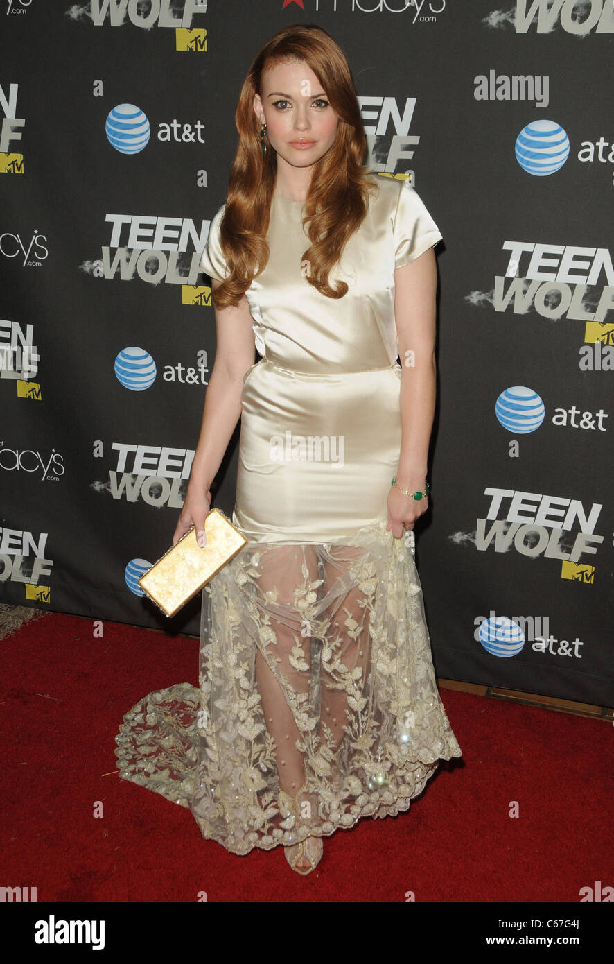 Holland Roden at arrivals for TEEN WOLF Premiere Party, Roosevelt Hotel, Los Angeles, CA May 25, 2011. Photo By: - Stock Image