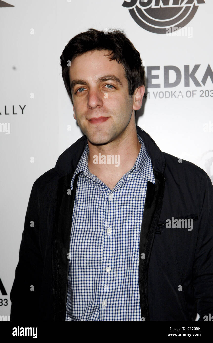 B.J. Novak at arrivals for SUPER Premiere, The Egyptian Theatre, Los Angeles, CA March 21, 2011. Photo By: Elizabeth - Stock Image