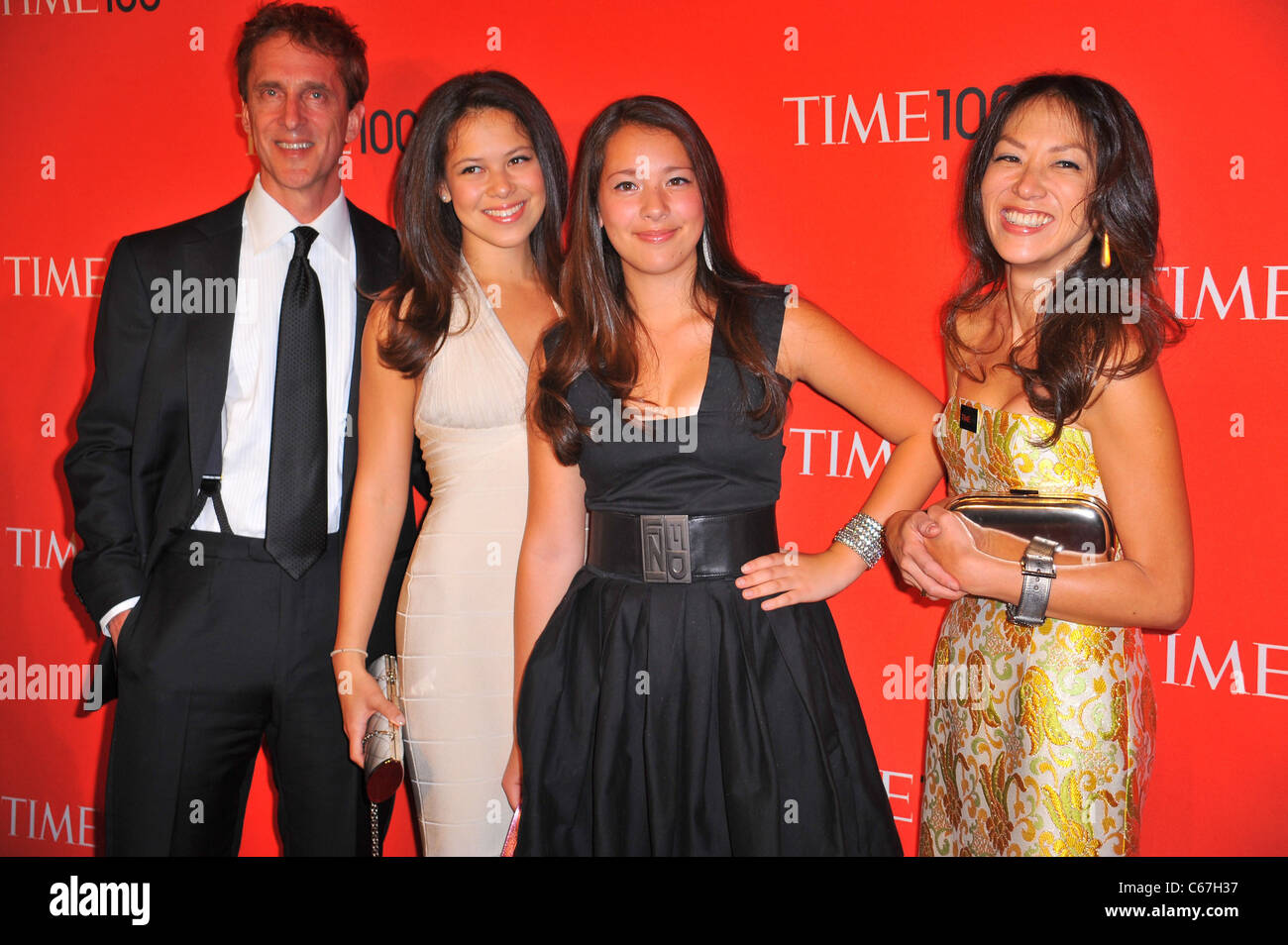 Amy Chua, Family at arrivals for TIME 100 GALA, Frederick P. Rose Hall - Jazz at Lincoln Center, New York, NY April - Stock Image