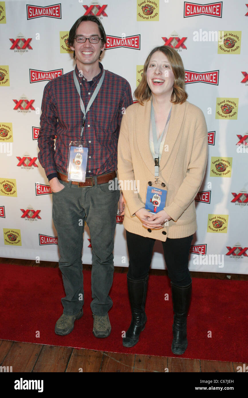 Ted Gesing, Mary Robertson, of Missed Connections at arrivals for 2011 Slamdance Film Festival Opening Night Red - Stock Image