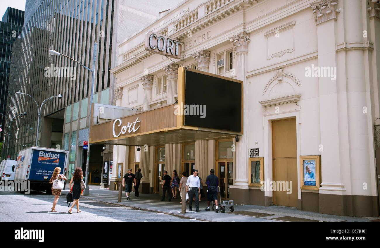 The currently dark legitimate Broadway Cort Theatre - Stock Image