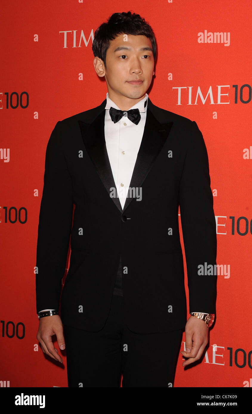 Rain, Jung Ji Hoon at arrivals for TIME 100 GALA, Frederick P. Rose Hall - Jazz at Lincoln Center, New York, NY - Stock Image