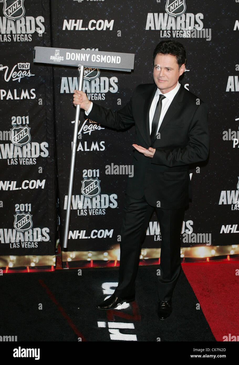 Donny Osmond At Arrivals For 2011 National Hockey League Nhl Awards