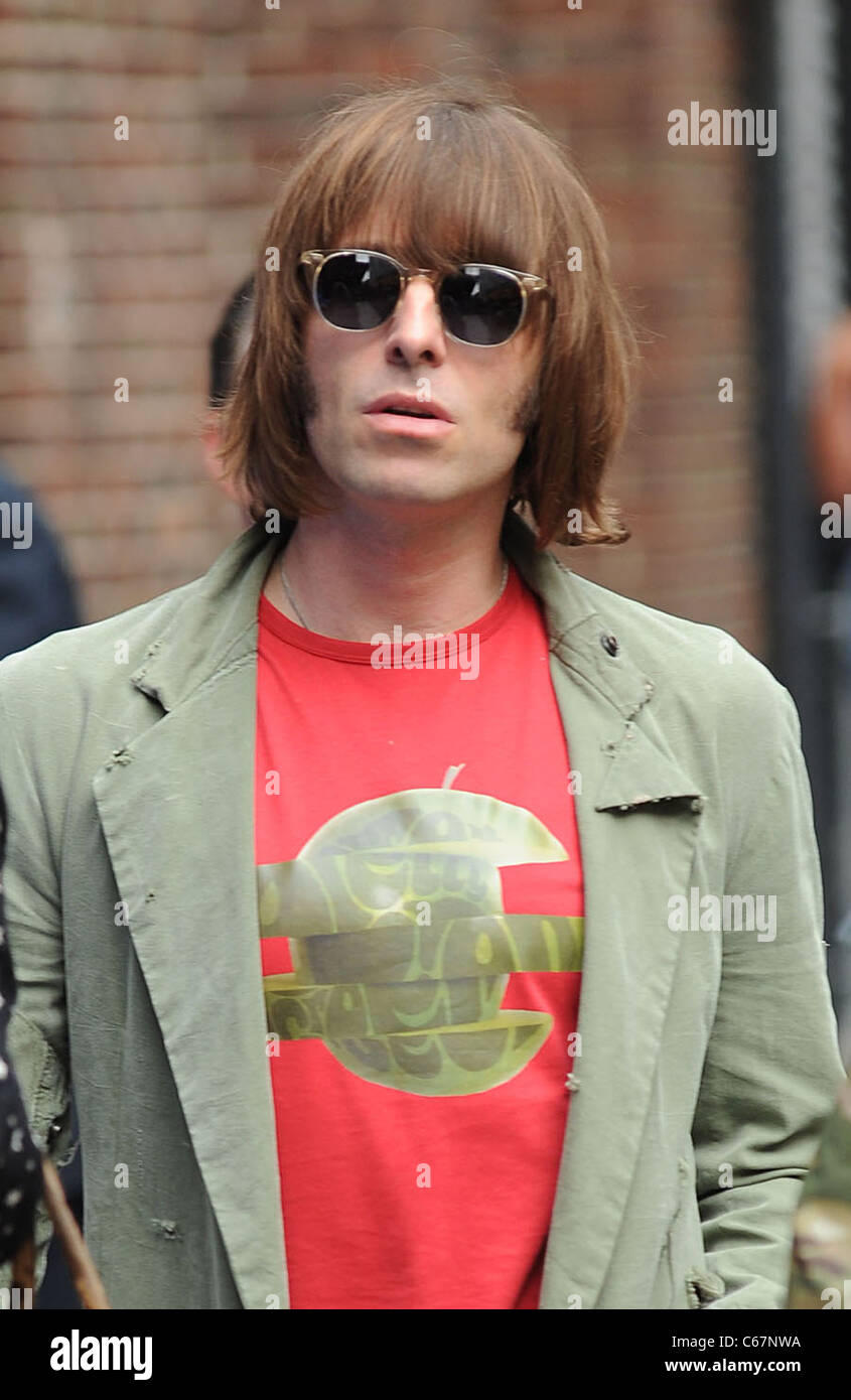 Liam Gallagher at talk show appearance for The Late Show with David Letterman - WED, Ed Sullivan Theater, New York, - Stock Image