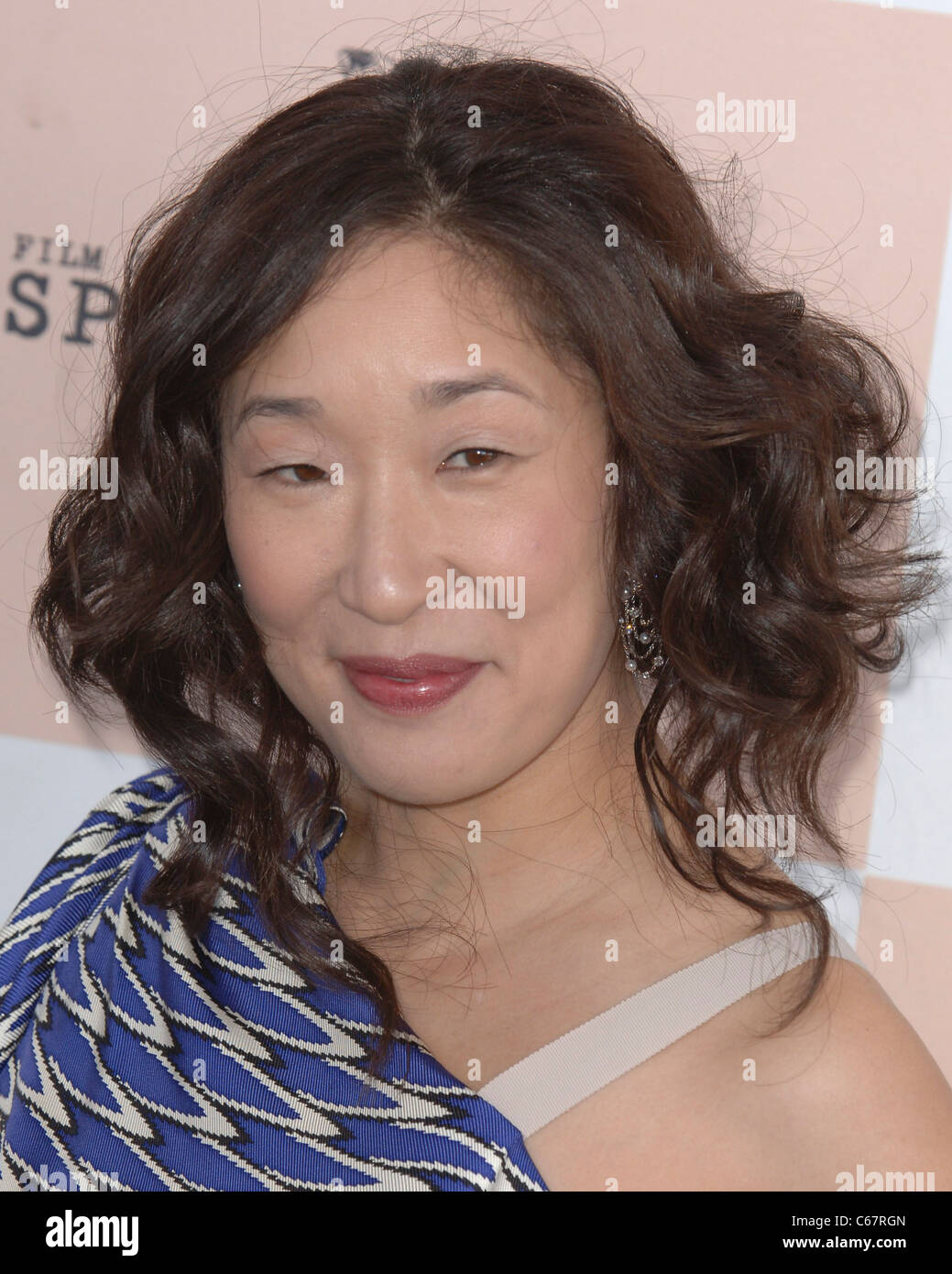Sandra Oh at arrivals for 2011 Film Independent Spirit Awards - Arrivals, on the beach, Santa Monica, CA February - Stock Image