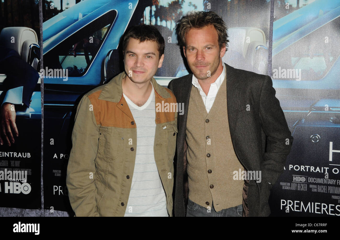 Emile Hirsch, Stephen Dorff at arrivals for HIS WAY Premiere, The Paramount Theater, Los Angeles, CA March 22, 2011. - Stock Image