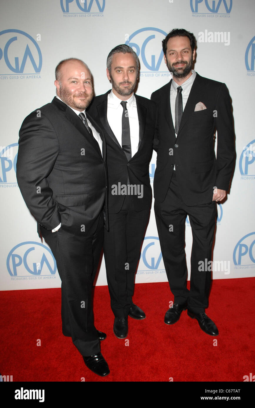 Gareth Unwin, Iain Canning, Emile Sherman in attendance for 22nd Annual Producers Guild of America PGA Awards, Beverly - Stock Image