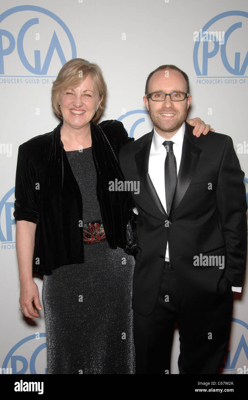 Janet Healy, John Cohen at arrivals for 22nd Annual Producers Guild of America PGA Awards, Beverly Hilton Hotel, - Stock Image