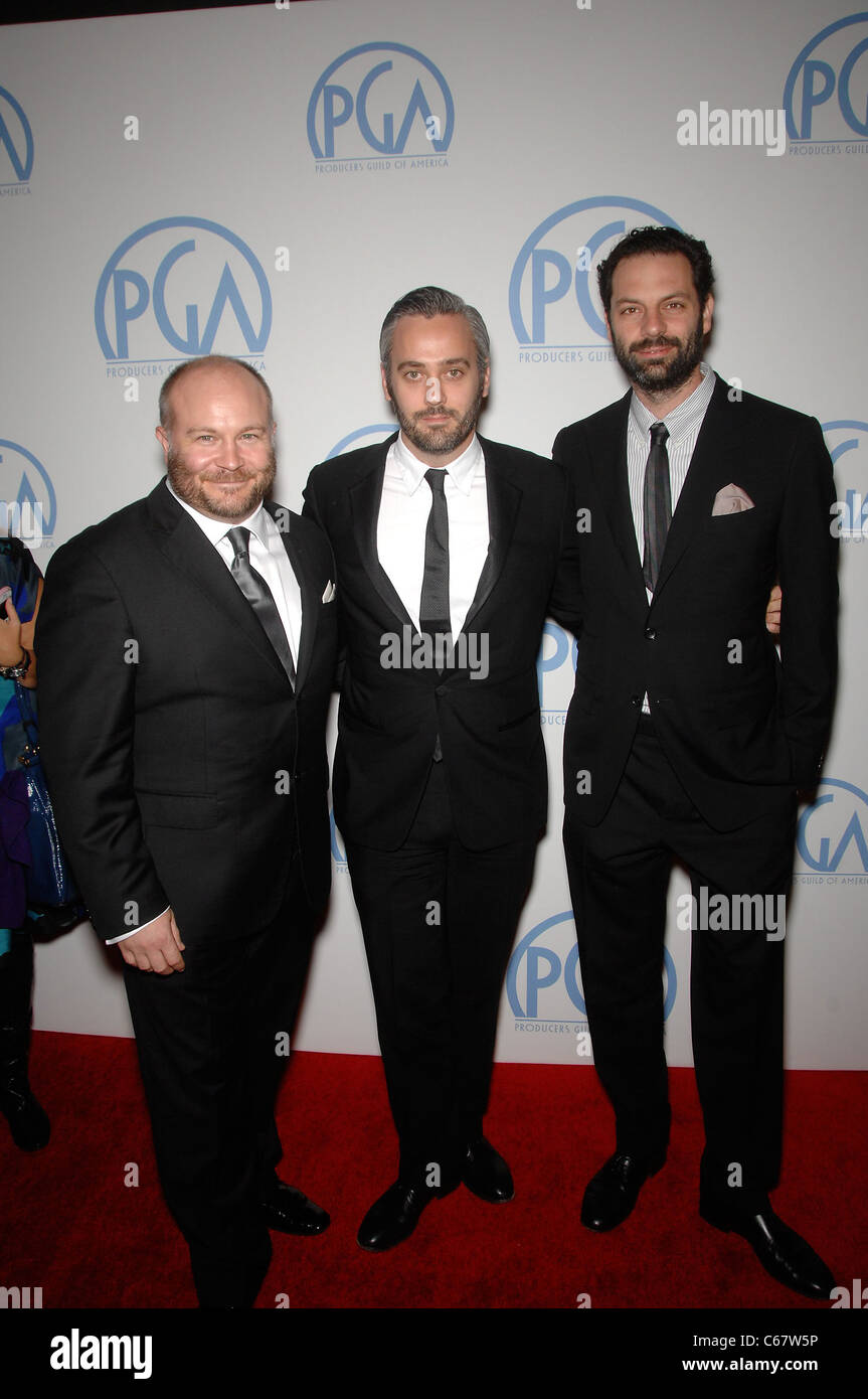 Gareth Unwin, Iain Canning, Emile Sherman at arrivals for 22nd Annual Producers Guild of America PGA Awards, Beverly - Stock Image