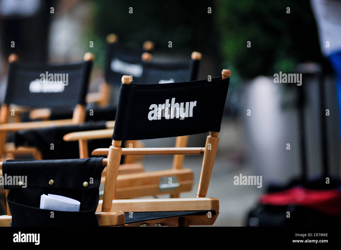 Atmosphere, at the 'Arthur' film set at the Bloomberg Tower out and about for CELEBRITY CANDIDS - THURSDAY, - Stock Image