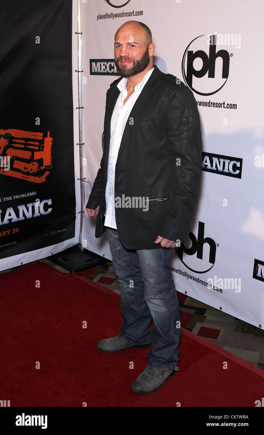 Randy Couture at arrivals for THE MECHANIC Premiere, Planet Hollywood Resort and Casino, Las Vegas, NV January 26, Stock Photo
