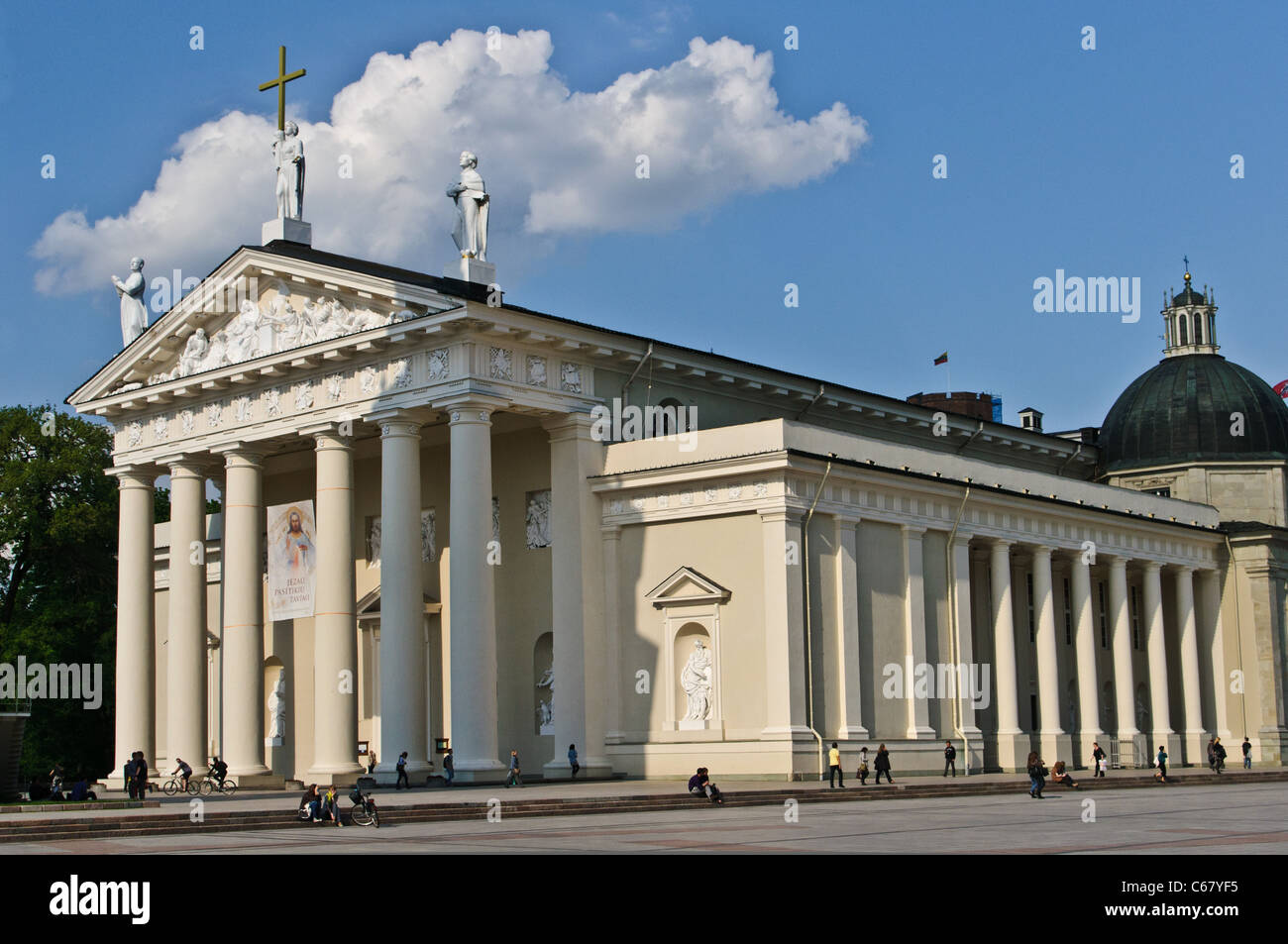 Saint Stanislaus Cathedral - Vilnius, Lithuania - Stock Image