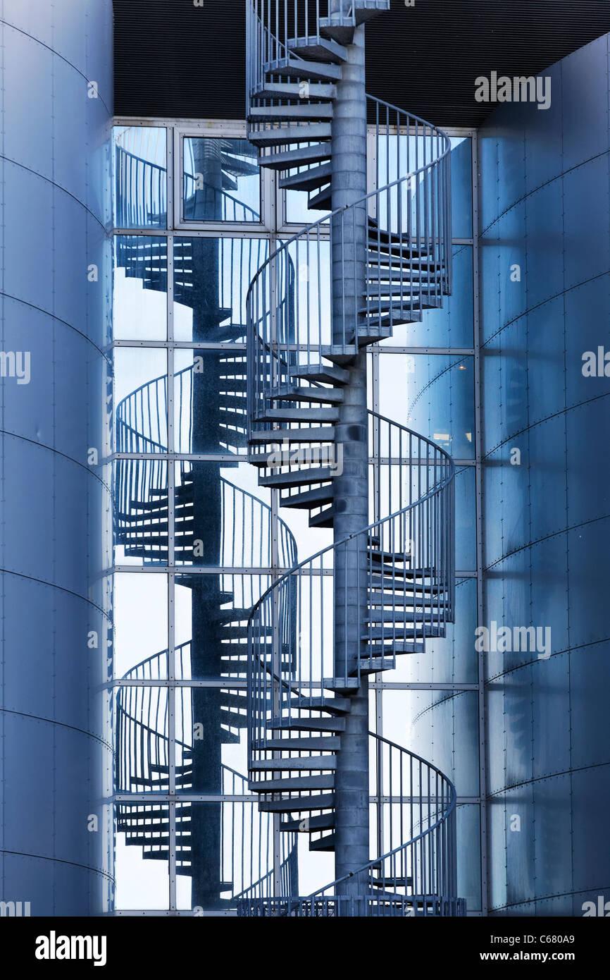 Spiral staircase at Perlan, the pearl, Reykjavik, Iceland - Stock Image