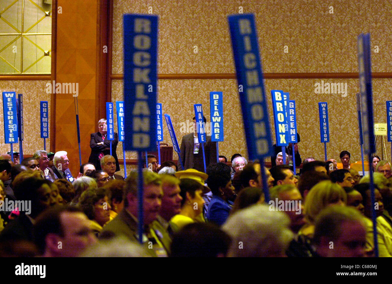Delegates from all over New York State convene at the NY State Democratic Committee Nominating Convention on May Stock Photo