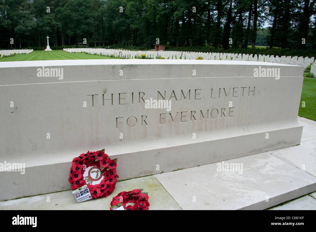Oosterbeck War Grave in Netherlands - Stock Image