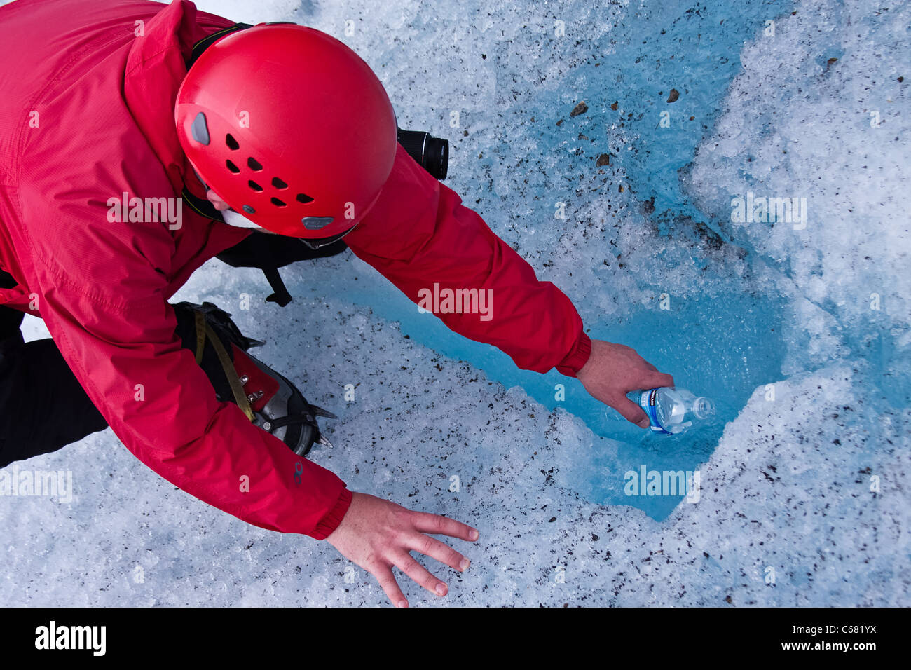 Fresh Glacial Water - Stock Image