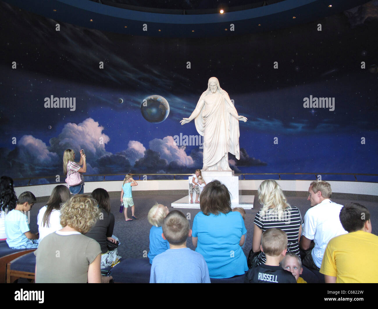 Christus Statue in the North Visitors Center on Temple Square, Salt Lake City, UT - Stock Image