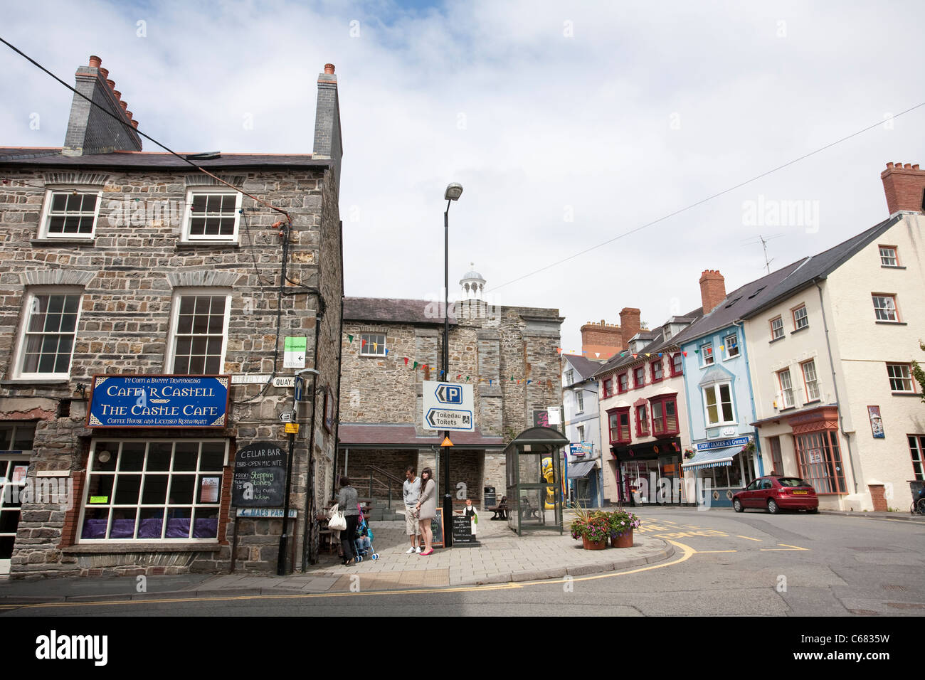 Cardigan High Street, West Wales. United Kingdom. Photo:Jeff Gilbert - Stock Image