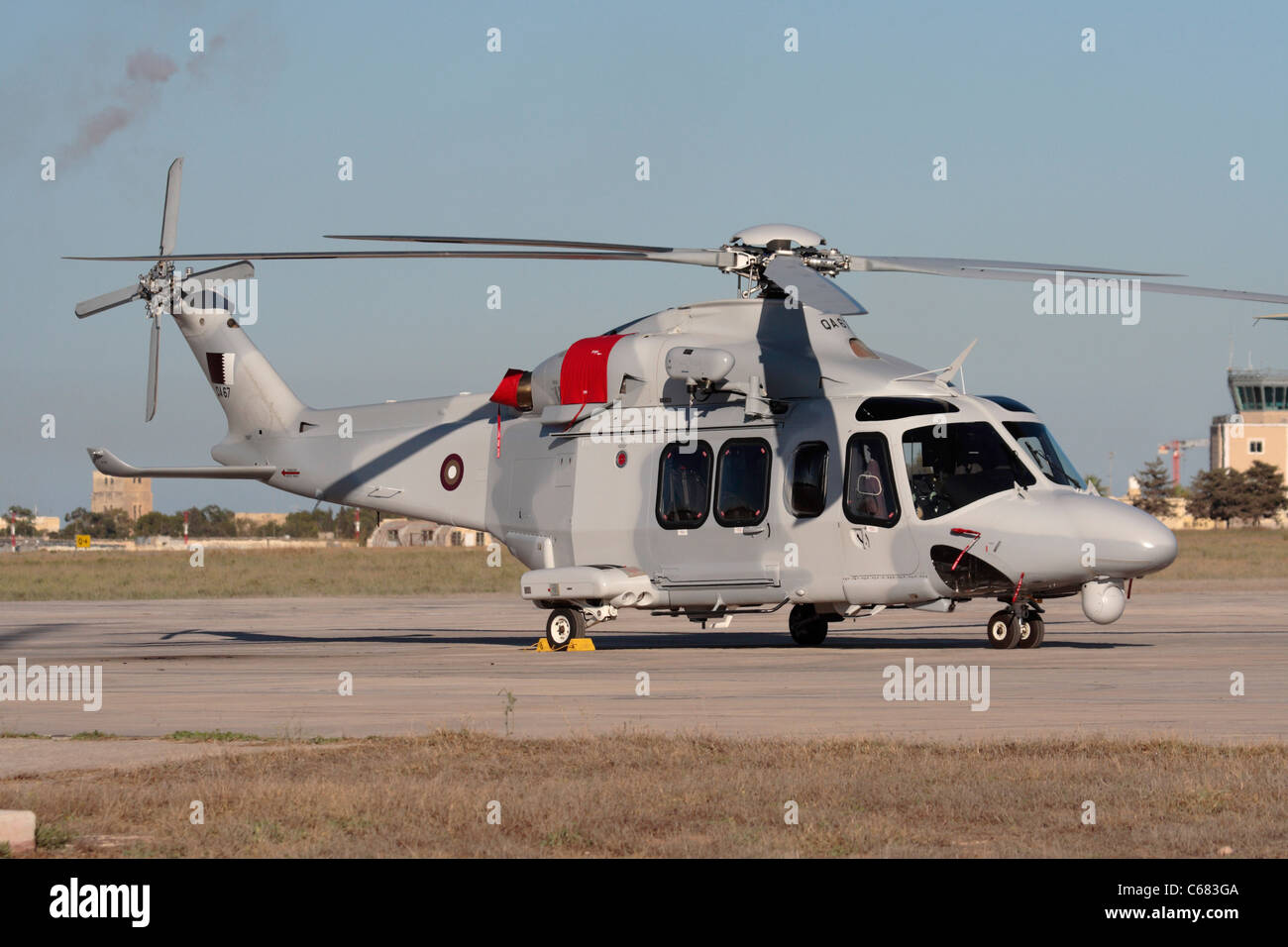 AgustaWestland AW139 military helicopter of the Qatar Emiri Air Force - Stock Image