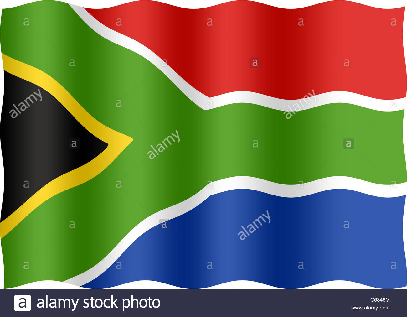 South African flag - Stock Image