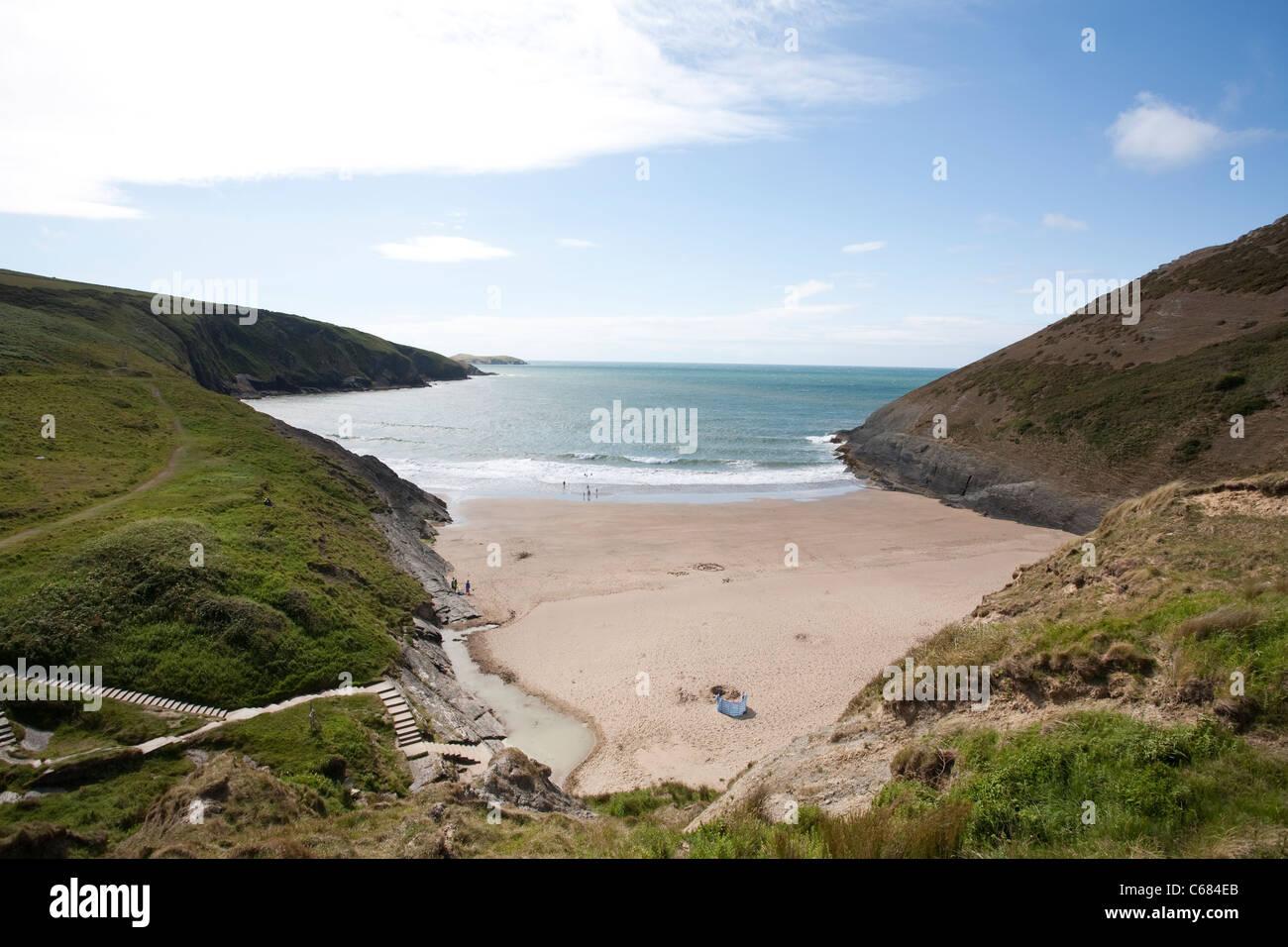 Mwnt Beach Cardigan Bay South Wales, UK. Photo:Jeff Gilbert - Stock Image