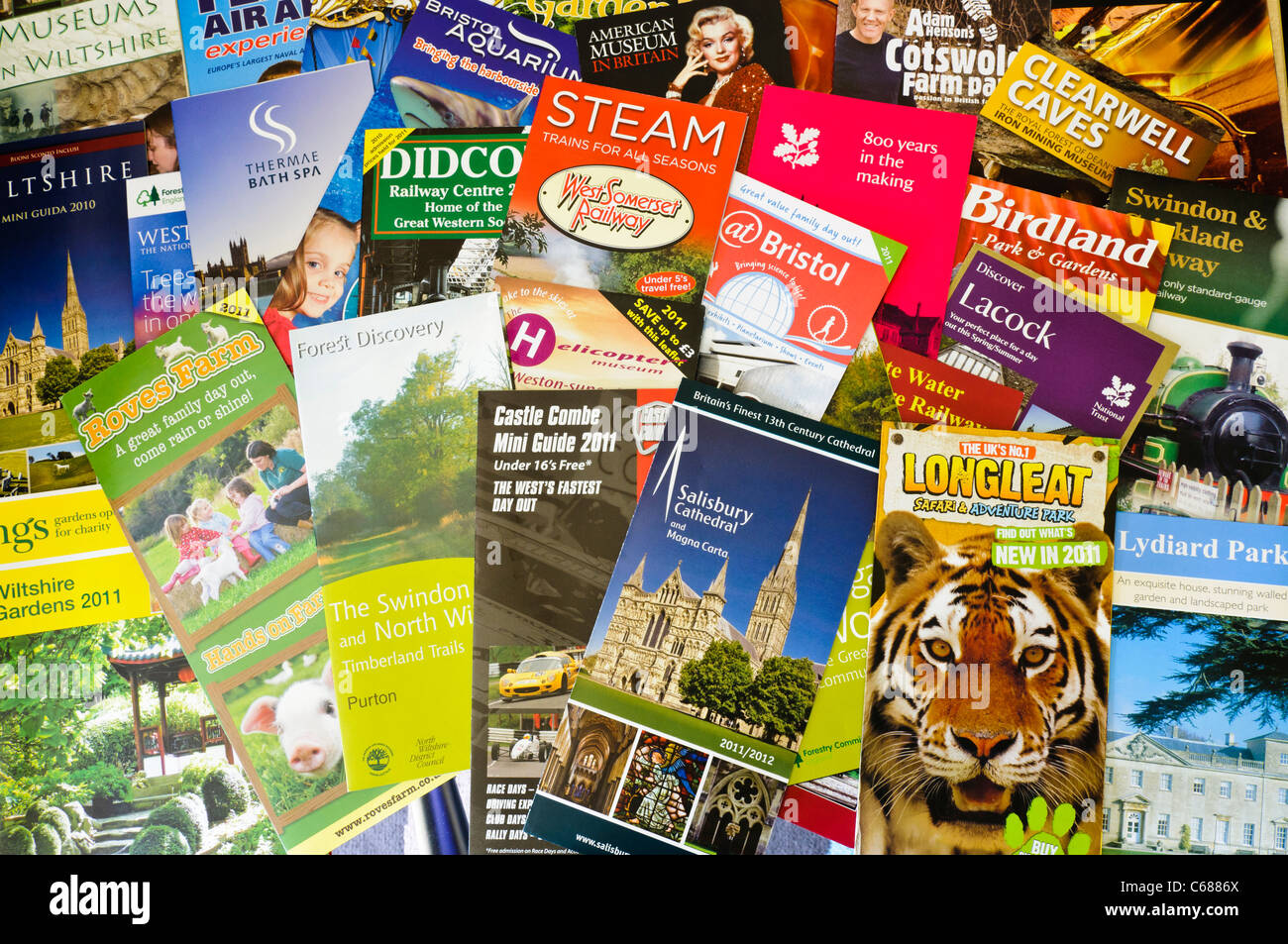 tourist information leaflets from the south west of england wiltshire hampshire and bristol area